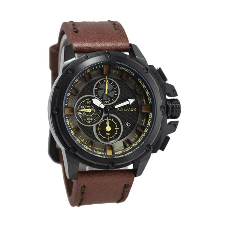 Balmer Casual Man D48H675B7905MCKTH Chronograph Leather Strap Jam Tangan Pria
