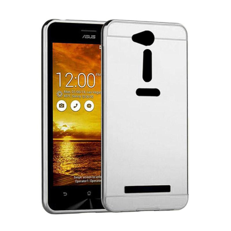 Bumper Mirror Sliding Casing for Asus Zenfone GO 4.5 Inch - Silver