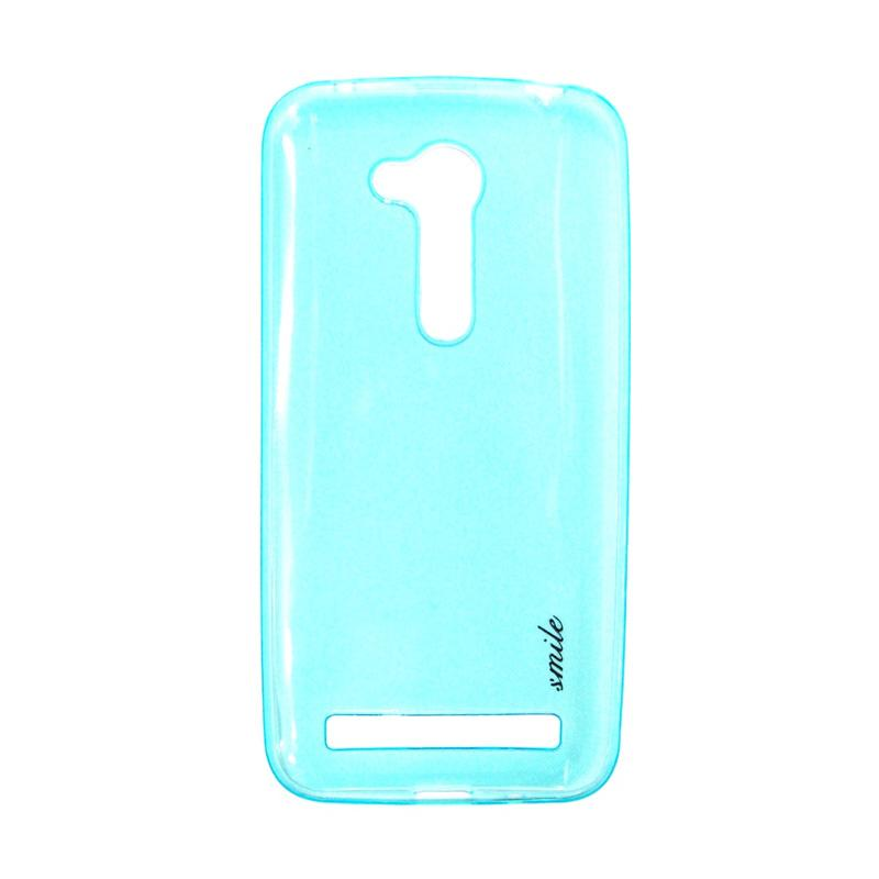 SMILE Ultra Thin Softcase Casing for Asus Zenfone Go ZB452KG - Blue Clear