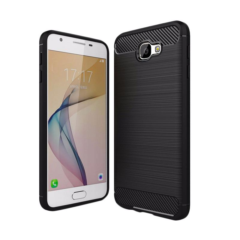 Ipaky Carbon TPU Rubber Casing for Samsung J5 Prime [Black]