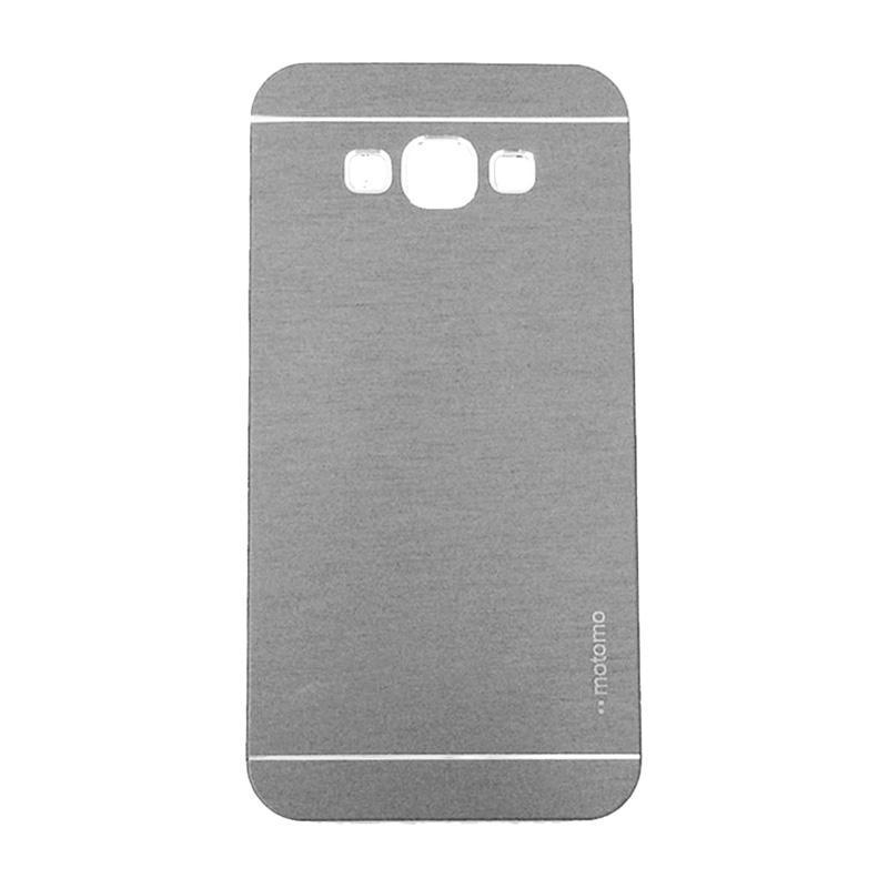 Motomo Metal Hardcase Backcase Casing for Samsung Galaxy A8 A800F - Silver