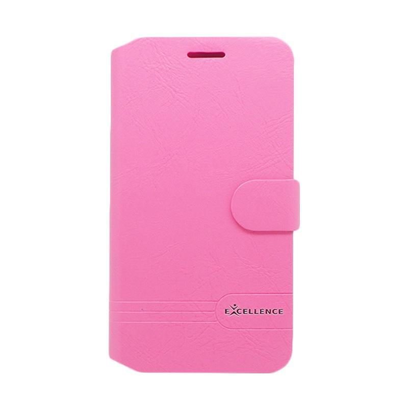 Excellence Flip Case Dragonite Casing for Asus Zenfone 3 ZE552KL - Pink