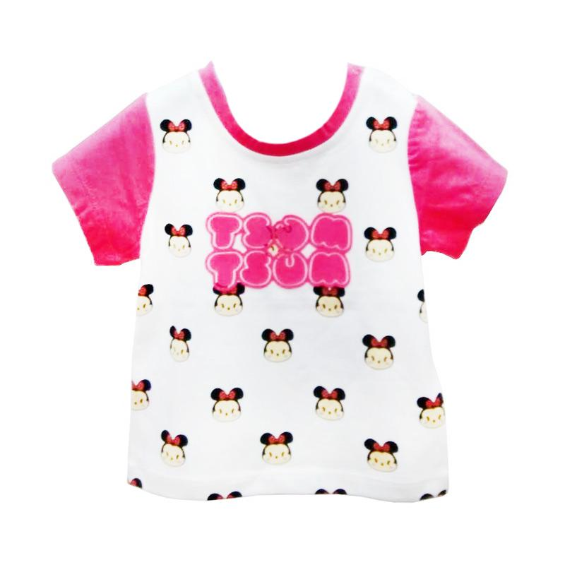 harga Import Kid Motif TsumTsum Baju Atasan Perempuan - White Pink Blibli.com