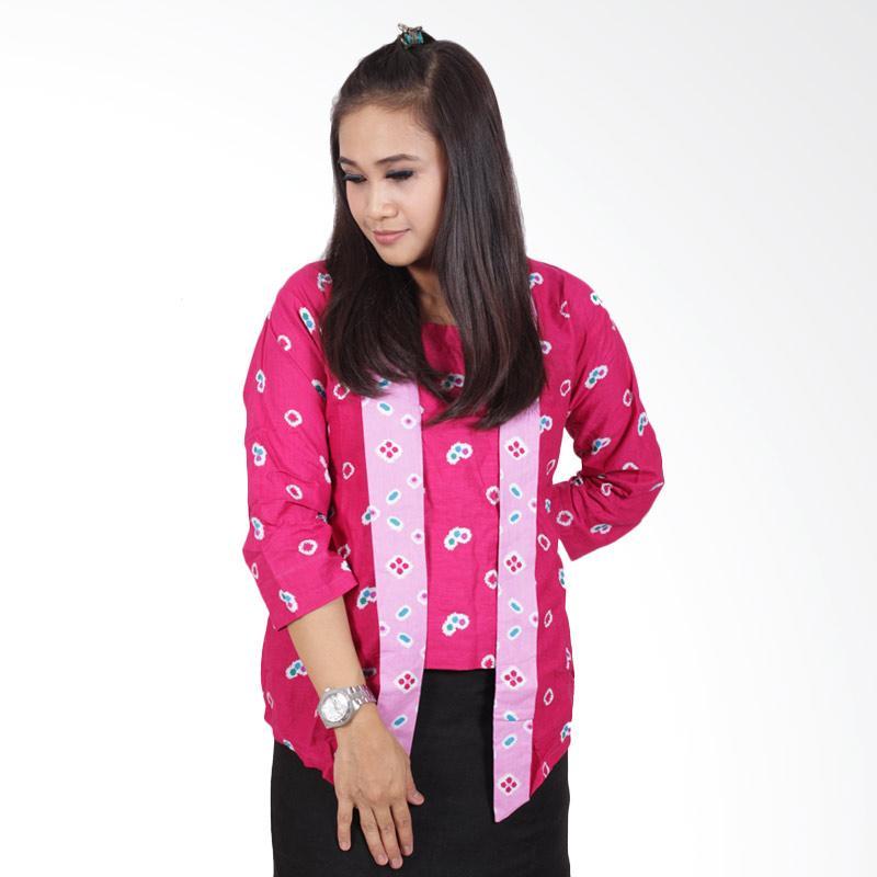 Batik Putri Ayu Solo Kutubaru B200 Blouse Batik - Pink