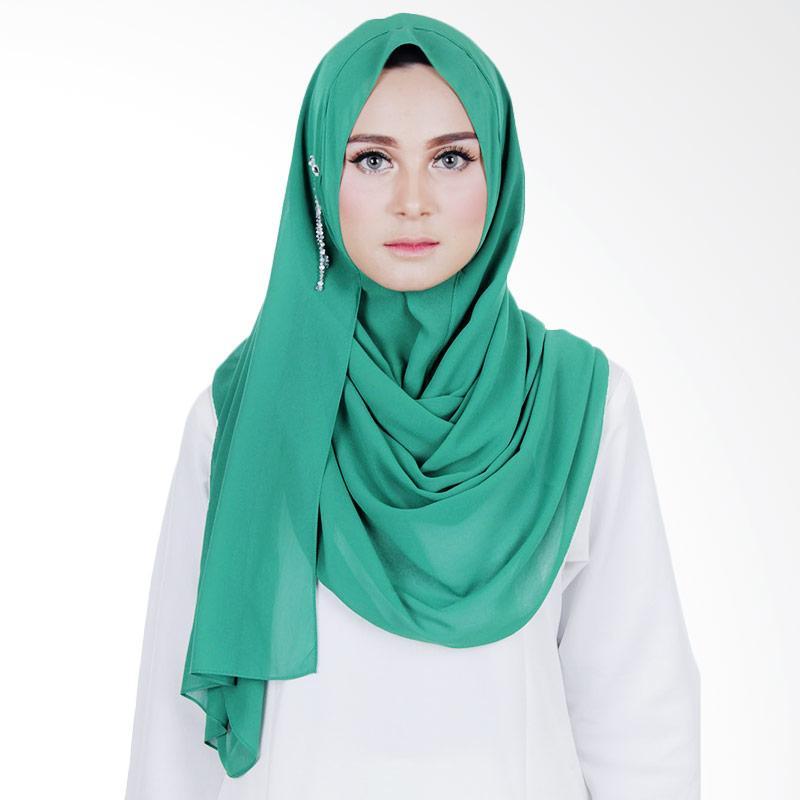 Cantik Kerudung Sheefa Glamour Jilbab Instant ��� Emerald green