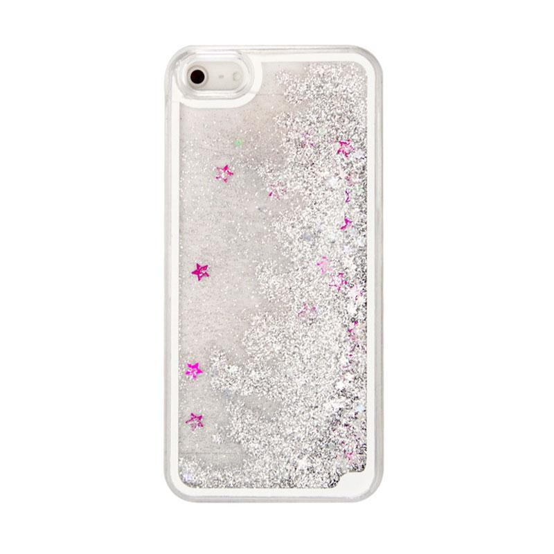 Case Water Glitter Softcase Aquarium Casing for iPhone 6 or iPhone 6s 4.7 Inch - Silver