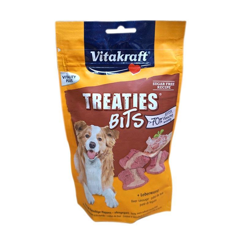 Vitakraft Treaties Bits Liverwurst Treat/Snacks For Dog [120 g]