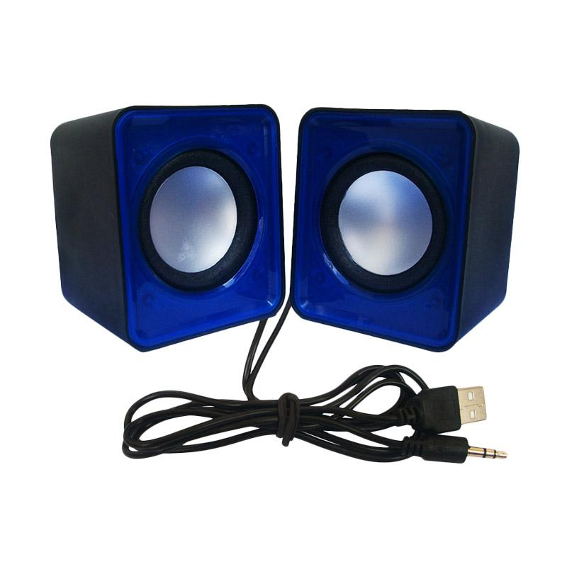 M-Tech MT-01 Mini USB Multimedia Speaker with Volume Control - Biru Tua