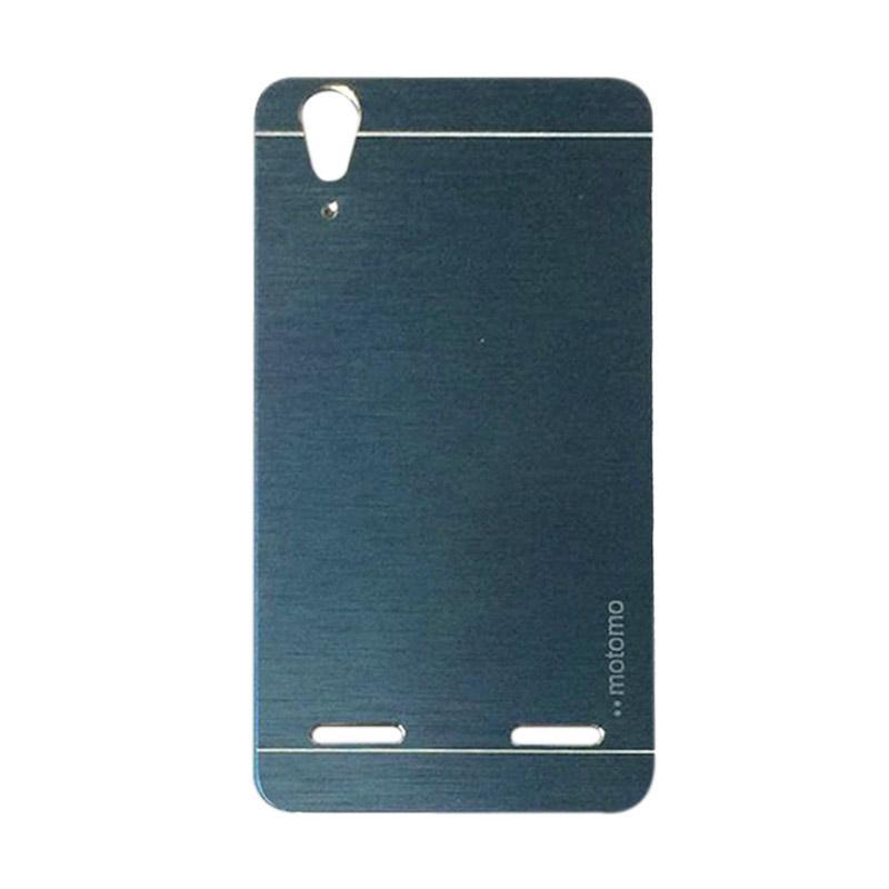 Motomo Metal Hardcase Backcase Casing for Lenovo A6010 or A6010 Plus - Dark Blue