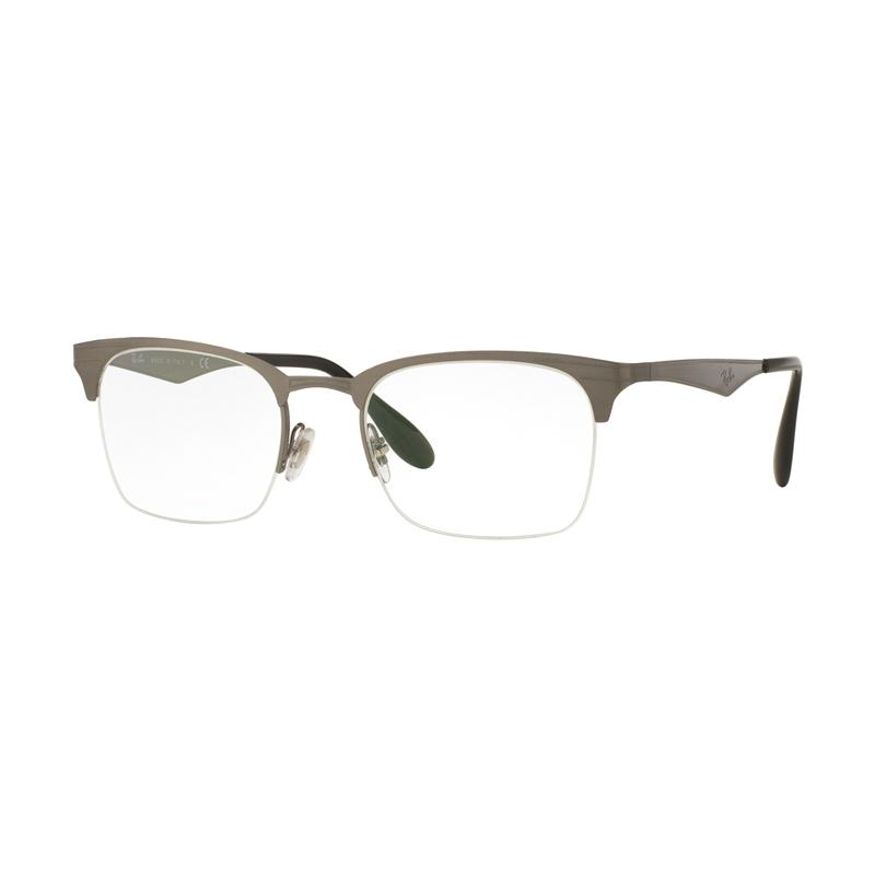 Ray-Ban Rx6360-2553 Demo Lens Vista Optical Kacamata - Brusched Gunmetal [Size 51]