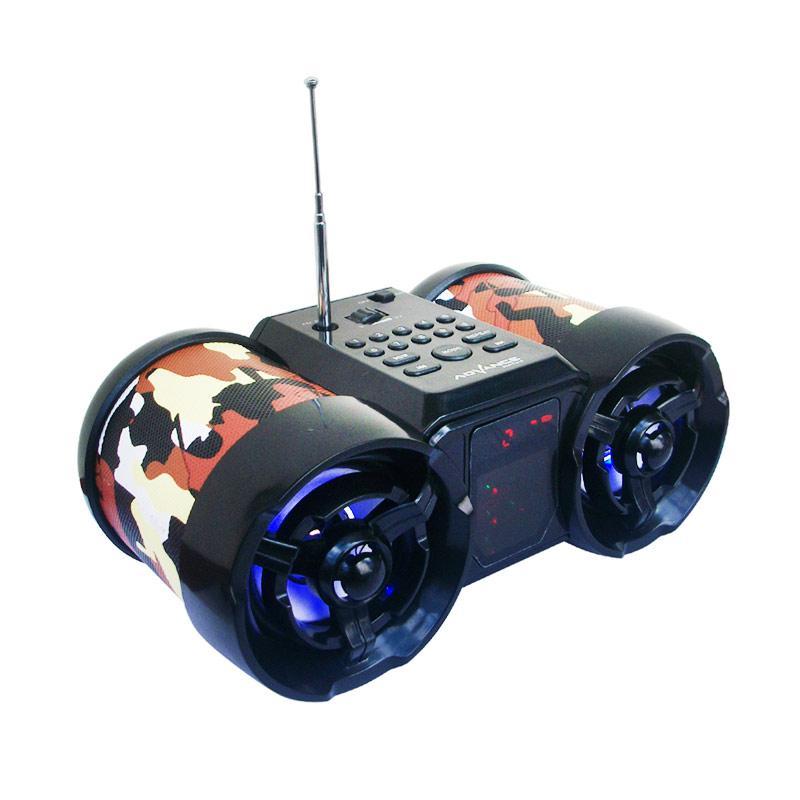 harga Advance Tentara TP-666 Speaker Portable With Antena And LED Digital - Coklat Blibli.com