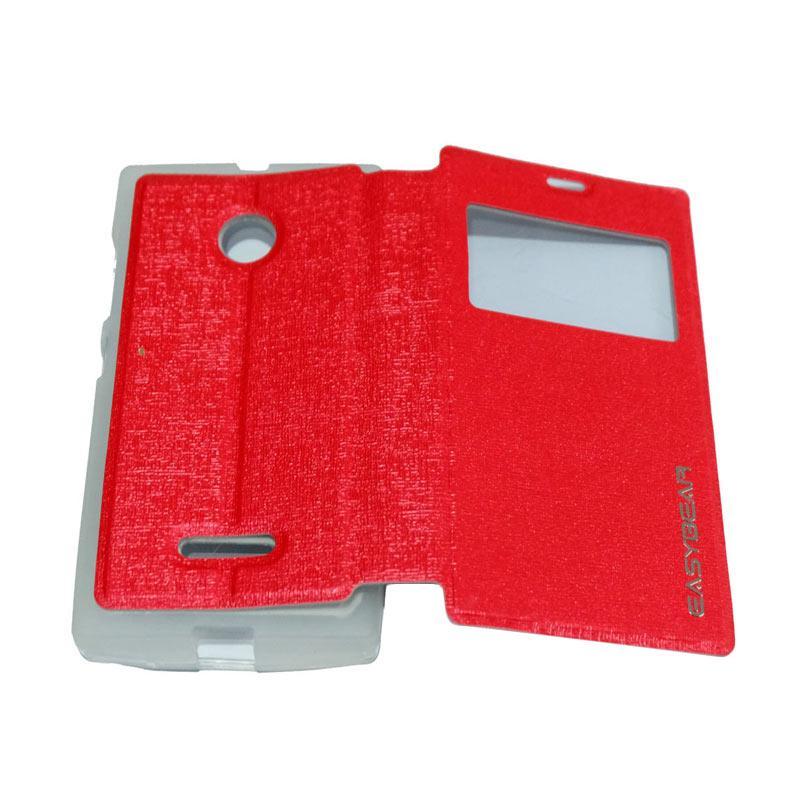 harga Easybear View Flip Cover Casing for Lumia N435 - Red Blibli.com