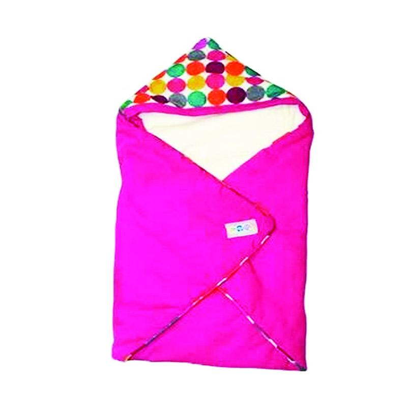 Snobby TPB 1531 Baby Blanket Topi Soft Color Marbles Selimut Bayi - Pink