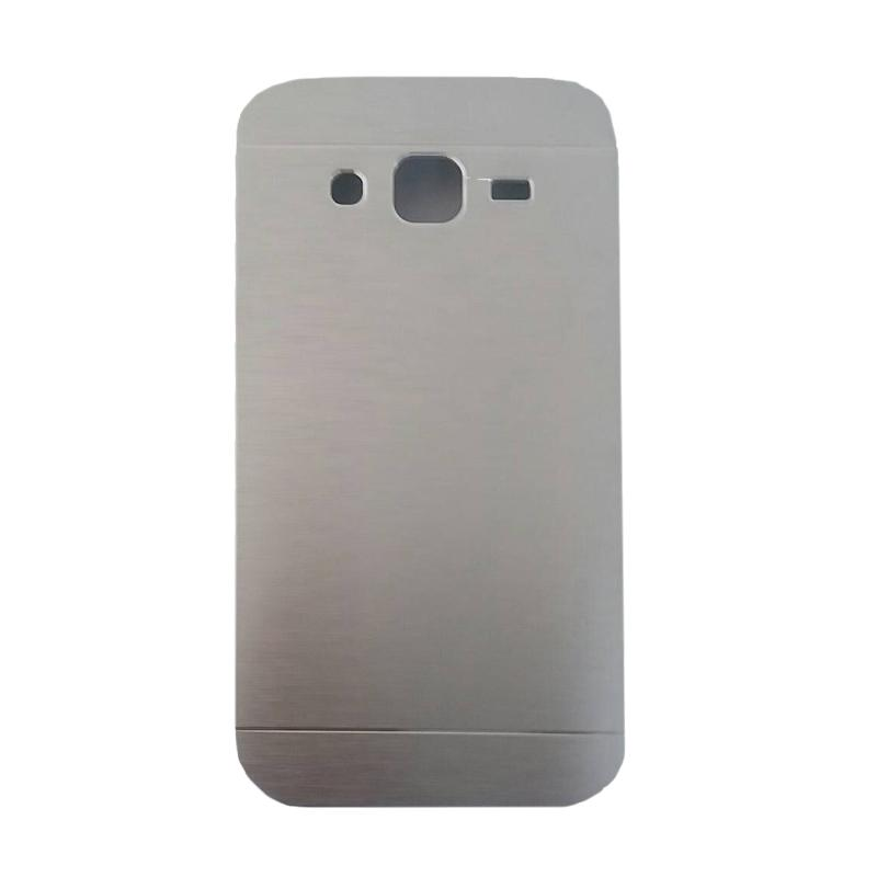Motomo Metal Hardcase Backcase Casing for Samsung Galaxy J2 J200F - Silver