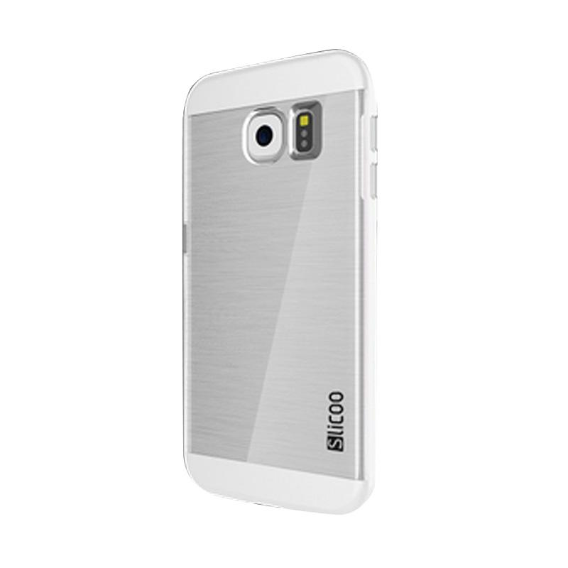 Slicoo Clear Back Cover Hardcase Casing for Samsung Galaxy S6 Edge - White