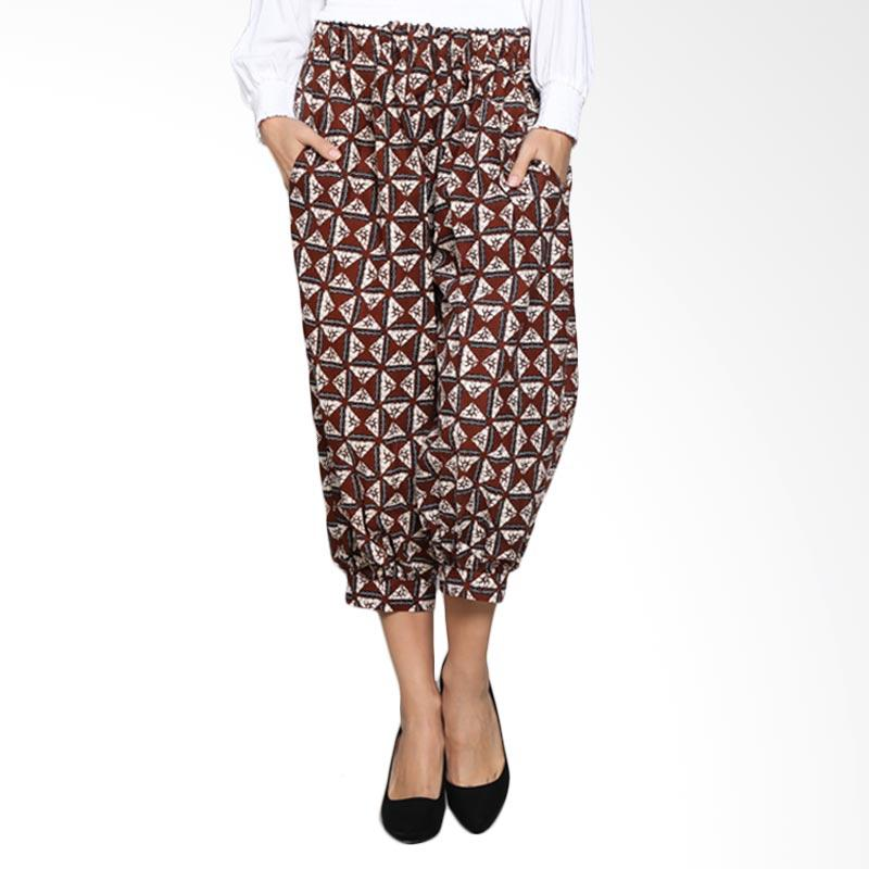 Batik Pria Tampan Wcl34-04081630p-Teak Women Slobok Culotte Pants