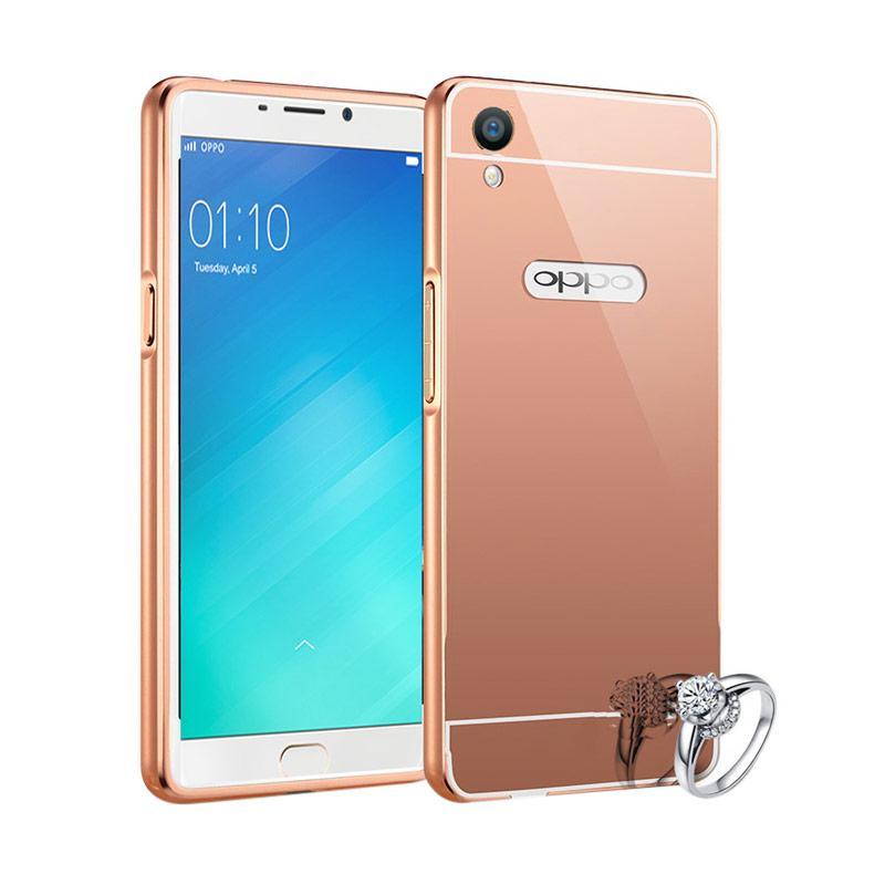 harga Radical Bumper Chrome Backcase Mirror Casing for Oppo F1 Plus - Rose Gold Blibli.com