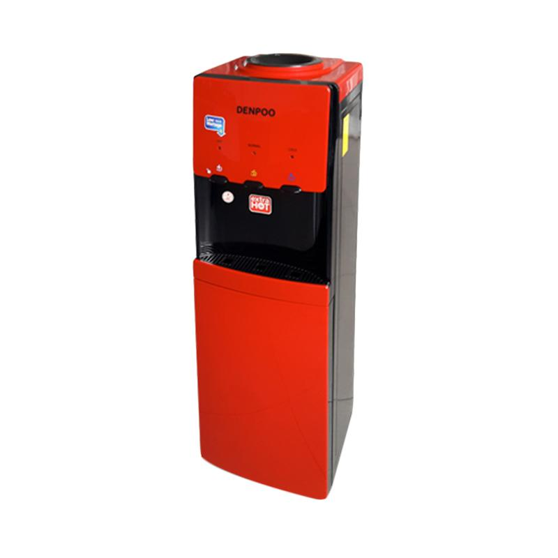 Denpoo Valerie DDK-3305 Water Dispenser with Cabinet - Black Red [Top Loading]