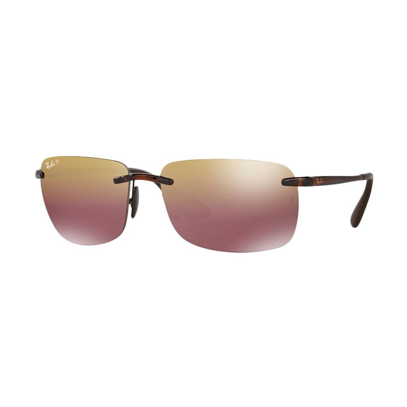 Ray-Ban Rb4255 Brown Mirror Gold Polar Sunglass - Shiny Brown [604-6B/ Size 60]