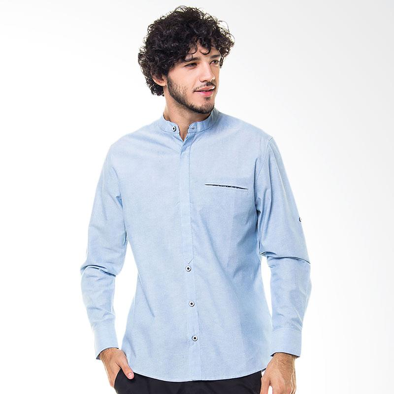 17Seven Original Longshirt Subscribe Kemeja Pria - Light Blue
