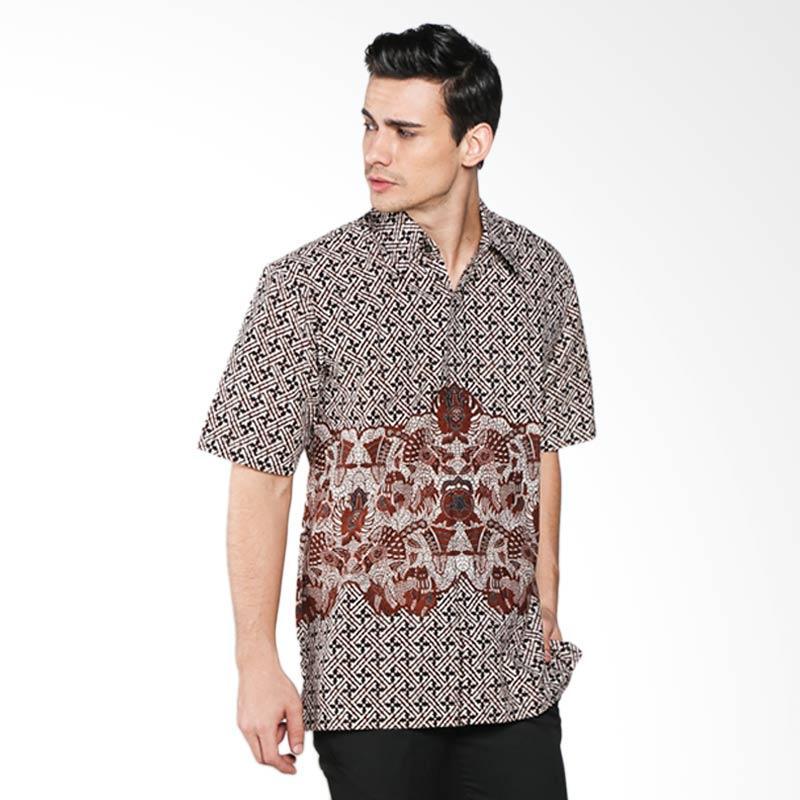 harga Batik Pria Tampan Banji Kukilorino PKMPD-04081673P Men Shirt - Teak Blibli.com