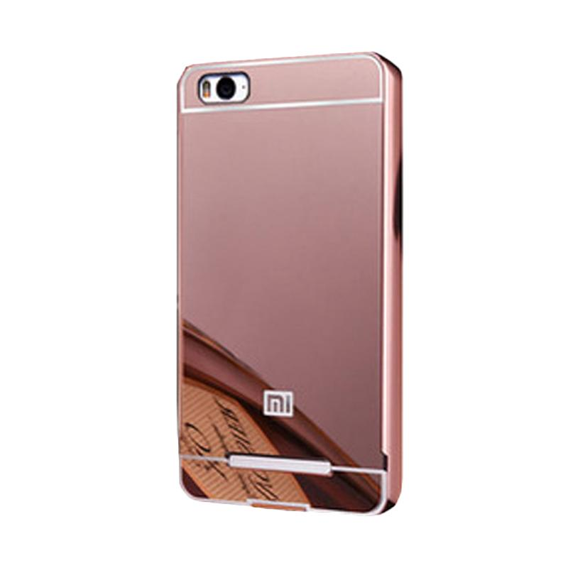 Bumper Case Mirror Sliding Casing for Xiaomi Redmi Mi4i - Rose Gold