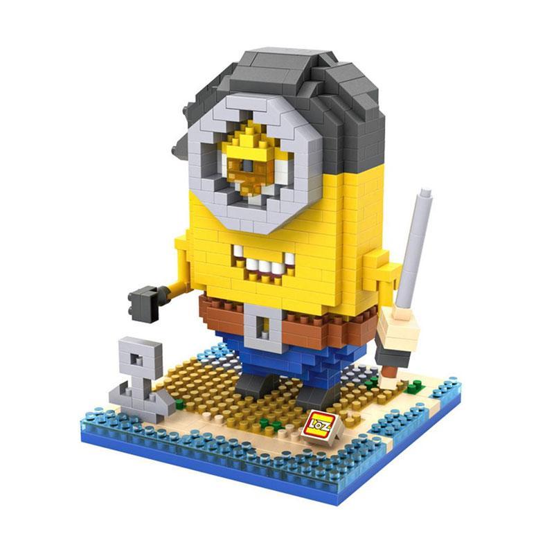 Loz Diamond Block 9607 Minion Pirate Mainan Mini Blocks - Kuning