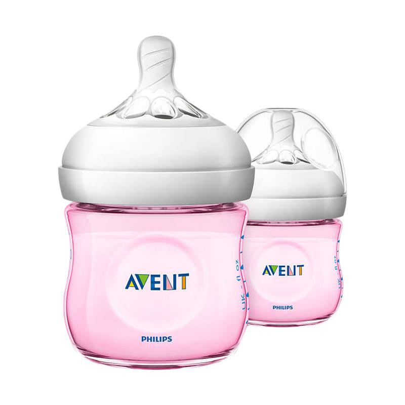 Philips Avent Natural Baby Bottle Pink Twin