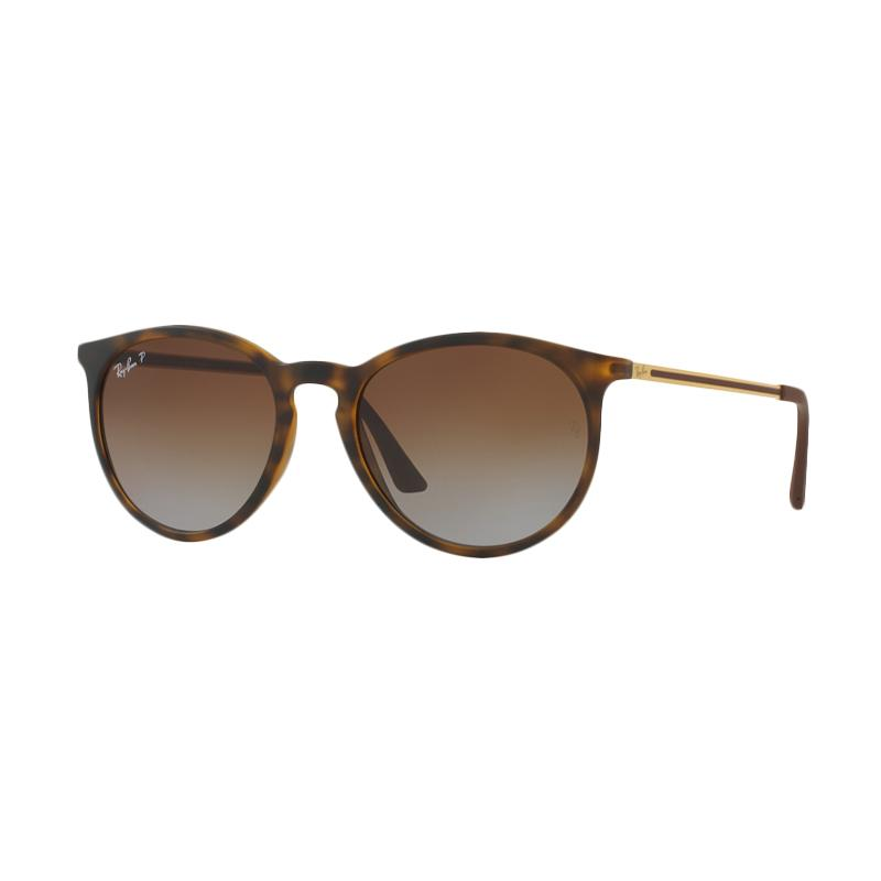 Ray-Ban Rb4274F Sunglasses - Rubber Havana [856/T5 /Size 57/Polar Gradient Brown]