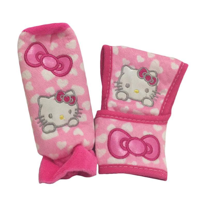 Hello Kitty Polkadot Love HK Cover Perseneling & Handrem - Pink