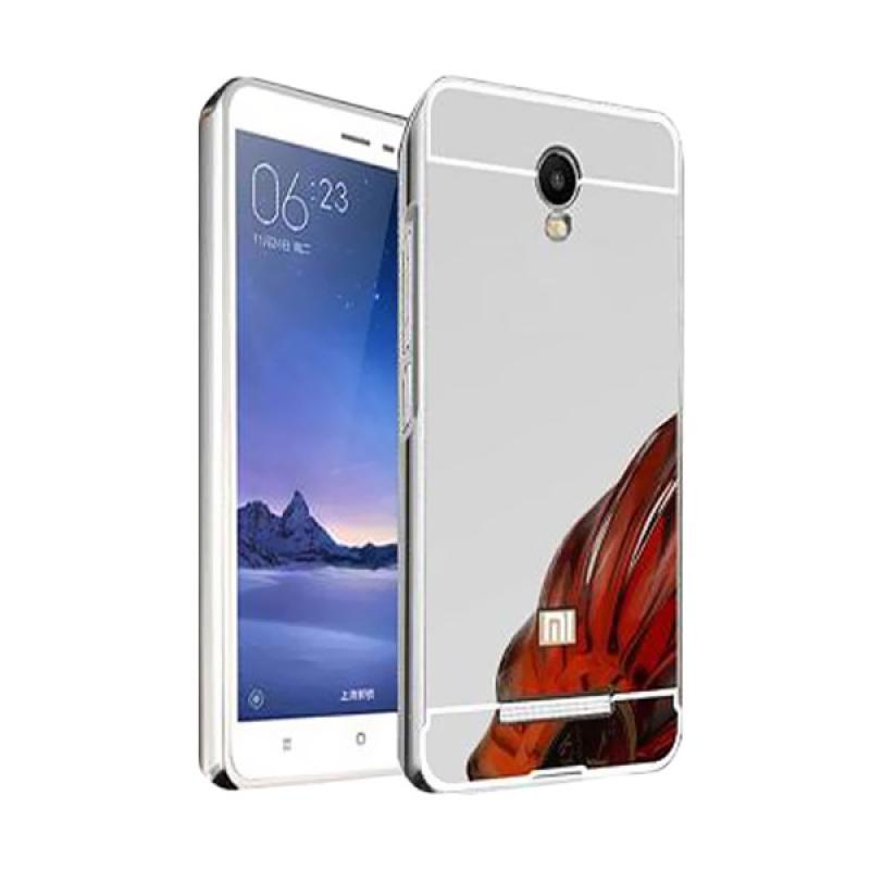 Bumper Case Mirror Sliding Casing for Xiaomi Redmi Note 2 - Silver