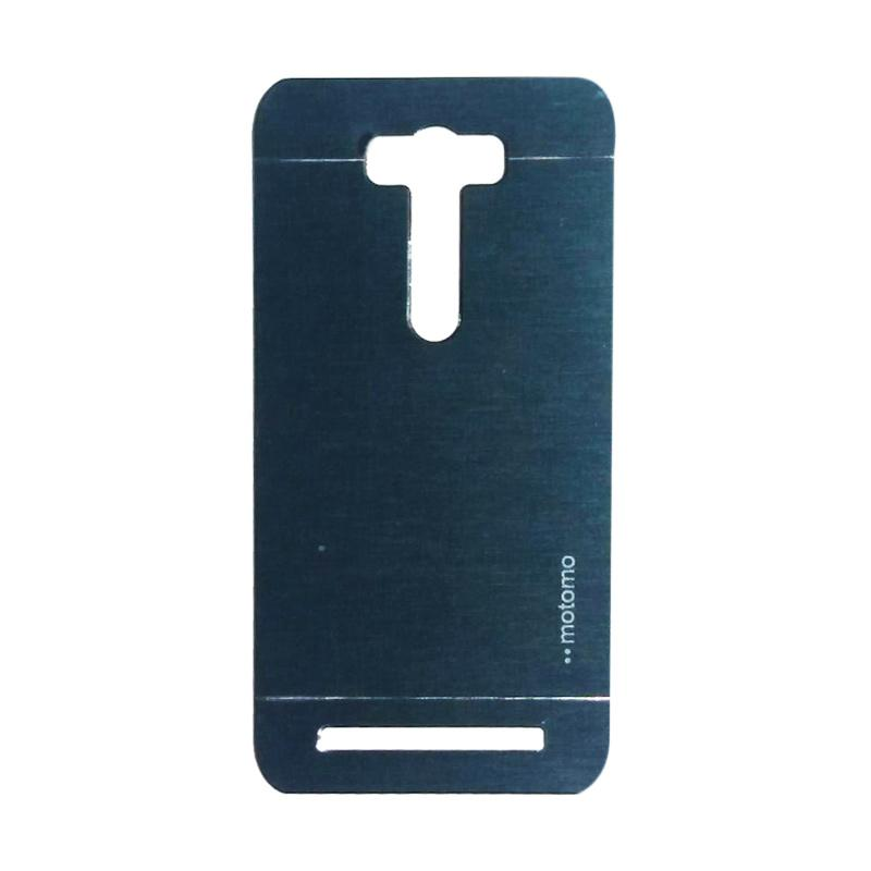 Motomo Metal Hardcase Casing for Asus Zenfone Selfie ZD551KL - Dark Blue
