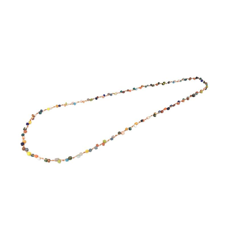 VONA Beads Ren Kalung Wanita Manik-manik Jewellery Necklace For Women [100 Cm]