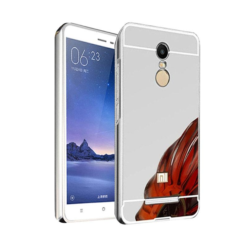 Bumper Case Mirror Sliding Casing for Xiaomi Redmi Note 3 - Silver