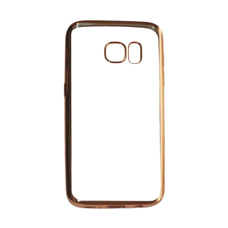 OEM Ultrathin TPU Shining Chrome Casing for Samsung Galaxy Note 7 - Gold