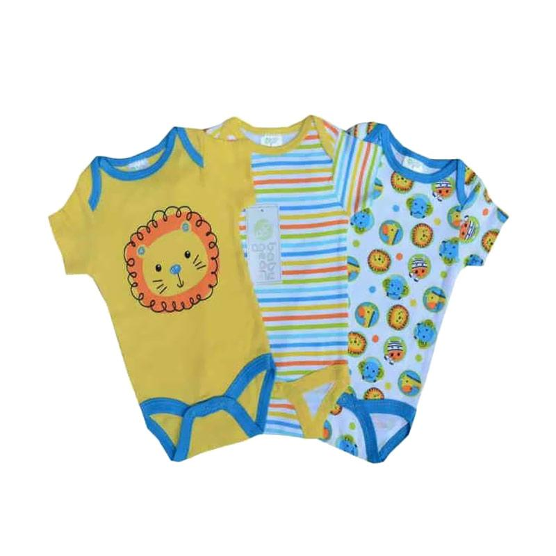 Chloebaby Shop Baby Boy Lion 3in1 Jumpsuit Bayi - Multi Colour