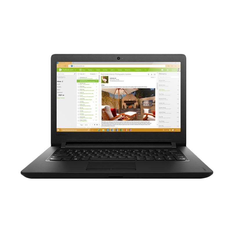 harga Lenovo IdeaPad 110 14IBR-8GID Notebook - Black [N3060/4GB/1TB/Black/DOS/14 Inch] Blibli.com