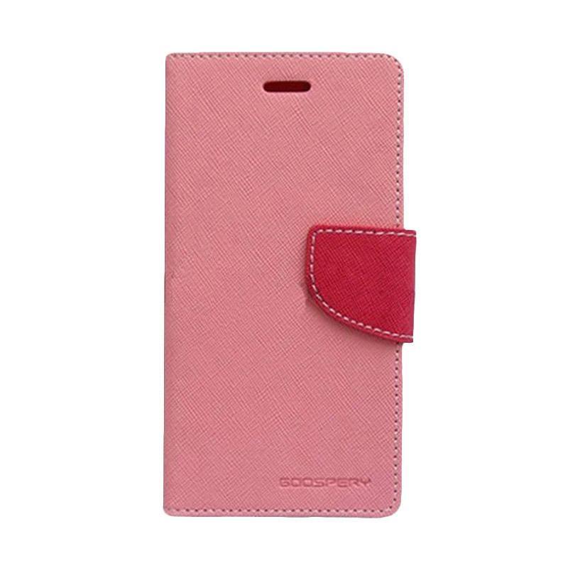 Mercury Fancy Diary Casing for Asus Zenfone GO ZC500TG - Pink Magenta