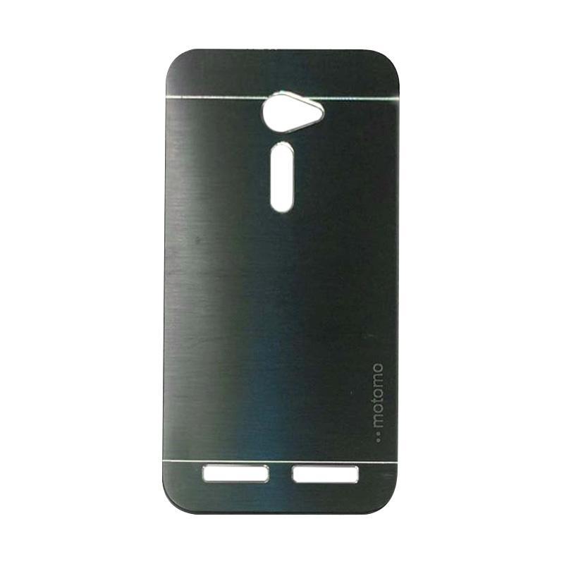 Motomo Metal Backcase Hardcase Casing for Asus Zenfone 2 ZE500CL 5.0 Inch - Black