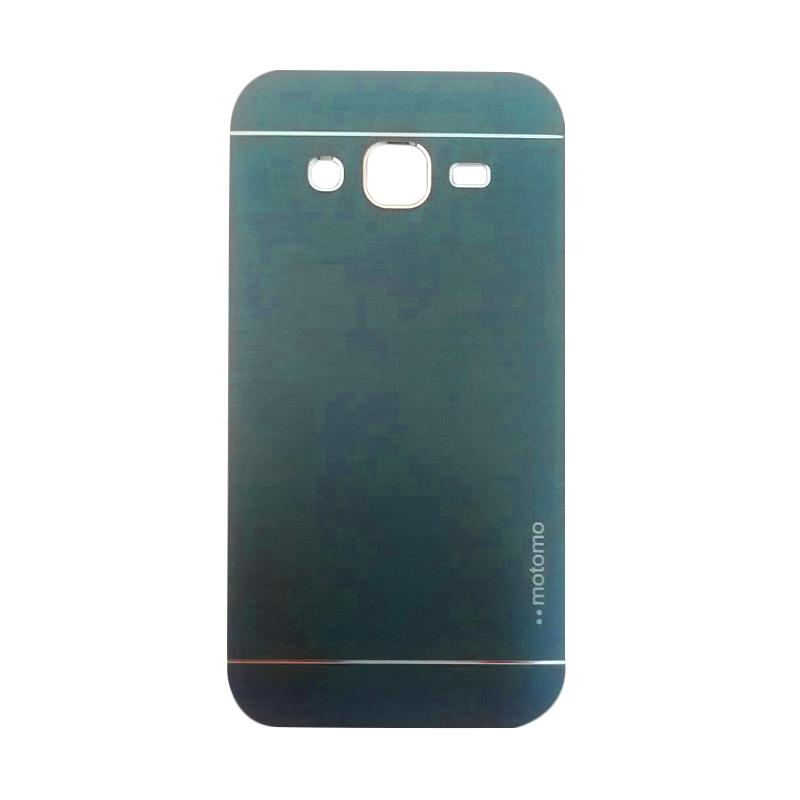 Motomo Metal Hardcase Backcase Casing for Samsung Galaxy J2 J200F - Dark Blue
