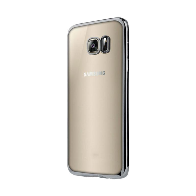 OEM Ultrathin TPU Shining Chrome Casing for Samsung Galaxy S7 - Silver