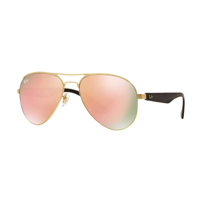 Ray-Ban RB3523 Sunglasses - Matte Gold [112-2Y/Size 59/Light Brown Mirror Pink]