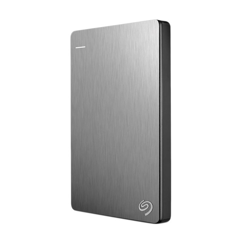 Seagate Backup Plus Slim Portable Hard Disk Eksternal - Silver [1 TB/ USB 3.0]