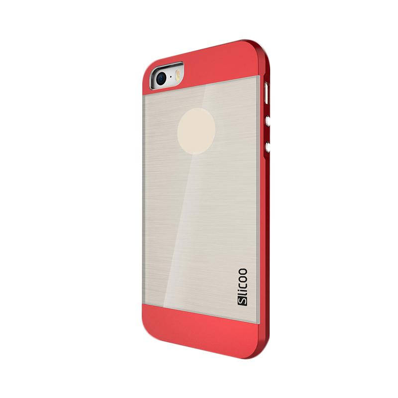 Slicoo Clear Back Side Cover Hardcase Casing for Apple Iphone 6 Plus - Merah