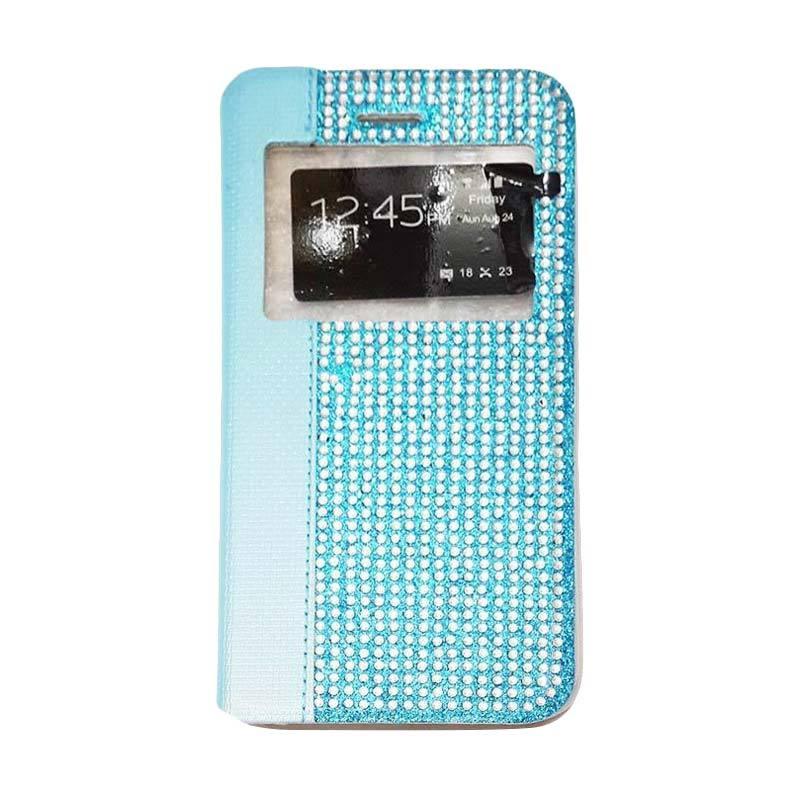 harga Case Diamond Leather Swarosky Flip Cover Casing for Xiaomi Redmi Mi3 - Biru Blibli.com