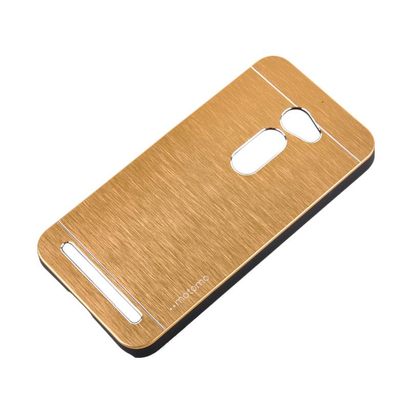 Motomo Metal Hardcase Backcase Casing for Asus Zenfone 2 ZE500CL 5.0 Inch - Gold