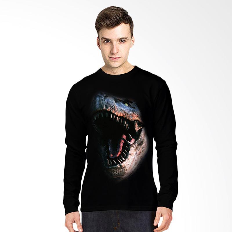 harga T-Shirt Glory Kaos 3D Fight Dinosaurus Lengan Panjang - Hitam Blibli.com