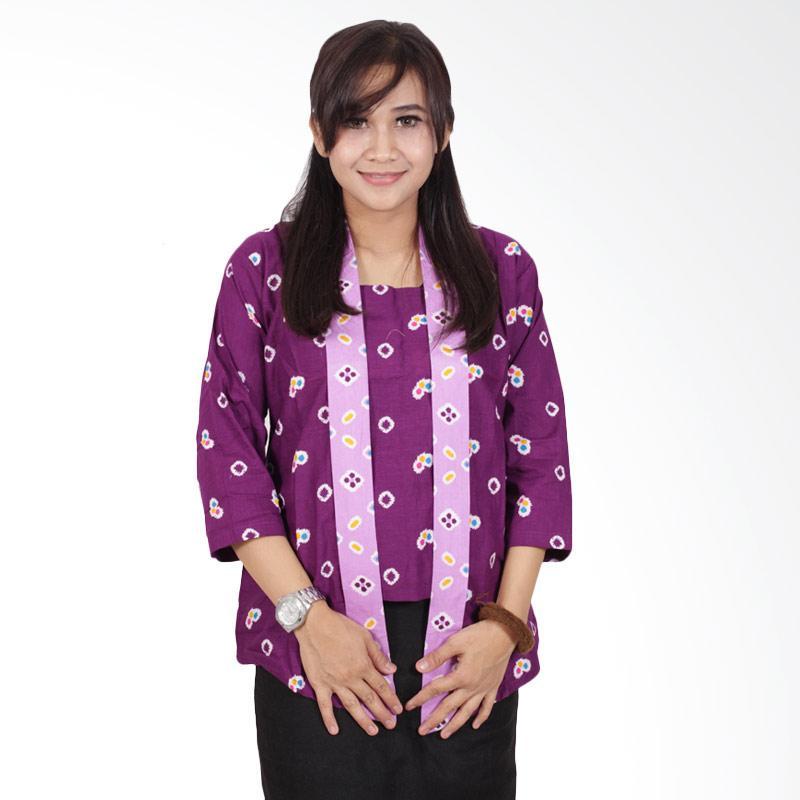 Batik Putri Ayu Solo Kutubaru B200 Blouse Batik - Ungu