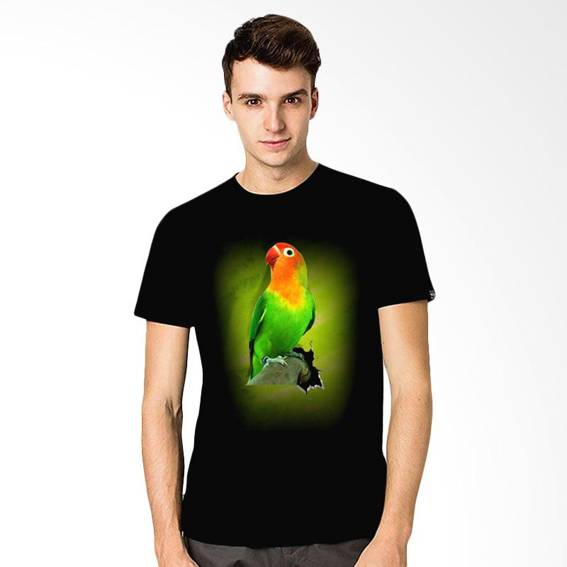 harga T-Shirt Glory Kaos 3D Burung Love Bird Fold Atasan Pria - Hitam Blibli.com