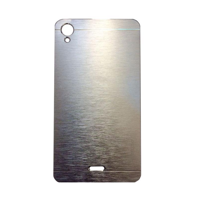 Motomo Metal Hardcase Backcase Casing for Infinix Hot Note X551 - Silver